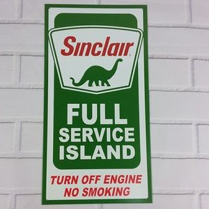 Other - Sinclair Full Service Island Dinosaur Metal Sign